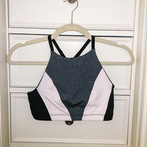 Beyond Yoga pink, gray, & black sports bra size S